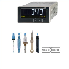 Complete measuring point for pH, conductivity or oxygen