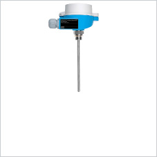 Temperature sensor with screw thread for simple applications